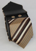 3-piece Brown Striped Matching