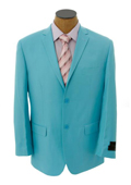 Mens Solid Light Blue ~ Sky Blue Blazer $149