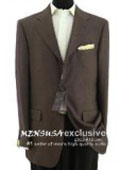 SKU MYQ307 3 Button Brown Textured 100 Wool Blazer Weave Pattern 179