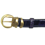 SKU#SSS44 Ferrini Navy All-Over Genuine Alligator Belt $279