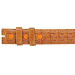 SKU#QWD99 Ferrini Cognac All-Over Genuine Crocodile ~ alligator Belt $159