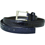 SKU#FRR66 Belvedere Navy All-Over Genuine Hornback Crocodile ~ alligator Belt $199