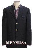 SKU#BDY429 Reg: $795 Dark Texturized Shark Skin Black Mens Dress Blazer 3 Button Wool Side Vents $159