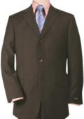 SKU 3BW199ZB88 Rich Chocolate Brown 3Button Super 140s Wool 3 Button Italian Made Suit 199