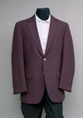 Men's 2 Button 100% Poly Blazer Burgundy ~ Maroon ~ Wine Color with brass gold buttons sportcoat $175