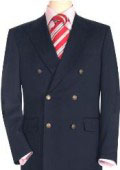 High Quality Navy Blue double breasted blazer with peak lapels, buttonhole $199