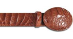 SKU#QB3 Los Altos Cognac All-Over Genuine Crocodile ~ alligator Belly Belt $149