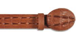 SKU#EV32D Los Altos Cognac Alligator Print Leather Belt $89