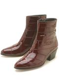 Burgundy ~ Maroon ~ Wine Color Eel Zipper Boot $239