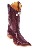 Burgundy ~ Maroon ~ Wine Color XXX 3X Toe Genuine Ostrich $475
