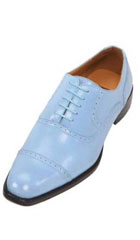 SKU#GHW3 Mens French Blue Oxford Dress Shoes