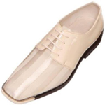 Mens Ice Dress Oxford Silver Tip Striped Satin