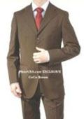 SKU YDL653 Made in ITALY Mens Dark Brown Suit Super 150s WoolCashmere Suit 3 Button Flat