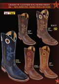 SKU#FX2E Los Altos Men's Grasso w/ Leather Sole Rodeo Cowboy Western Boots Diff. Colors