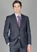 Mens Textured Grey 2-Button