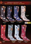 SKU#KXE3 Los Altos Men's 6X Extreme Toe Denim Patches Cowboy Western Boots Diff. Colors