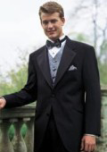 SKU# VTXPW199 Regal Tuxedo Package: Super 140's Wool 2 Button Tuxedo, Vest, Shirt, Tie $199