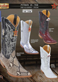 Flat toe cowboy boots