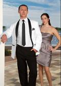 SKU#ZE21 White With Black Lapel Shawl collar Tuxedo Dinner Jacket with Black Pants + Shirt & Black