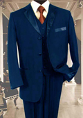 3PC Navy Blue Tuxedo