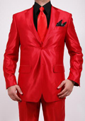 Shiny Red 2-Button 2-Piece