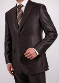 Shiny Brown 2-Button 2-Piece