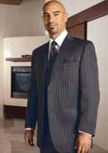 Button Charcoal Stripe Tuxedo