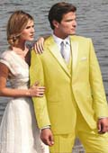 Stunning Yellow Two Button Tuxedo $595
