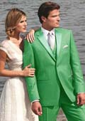 SKU#S4S3 Stunning lime mint Green ~ Apple ~ Neon Bright Green Two Button Tuxedo $595