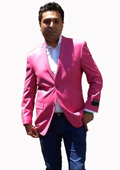 SKU#H22G Stage Party Bright Mens Sport Coat / Dinner Jacket Blazer Vented Hot Pink Fuchsia