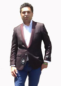 Velvet Burgundy ~ Maroon ~ Wine Color Sport Coat Blazer $139