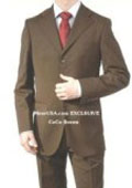 SKU NYA658 Mens Dark Brown Super Wool 3 Buttons Dress Business Suits 149