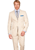 New Mens Linen Summer Suit Blazer & Pants - Cream Off White Ivory $499