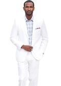 Button Solid Linen Suit