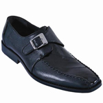 Eel/Leather Dress Shoe Black