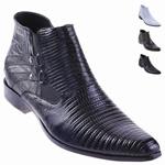 Lizard Dress Boot Black