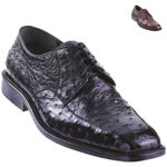 Ostrich Oxford Shoe Black