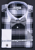 Black dress shirt and tie