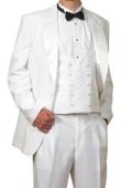 White tux pants