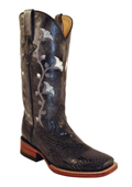 Womens Floral Cowhide S-Toe