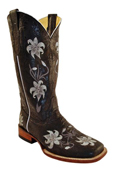 Womens Distressed Cowhide S-Toe