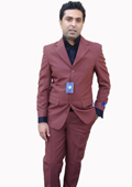 3 Button Suit Rust~Cognac