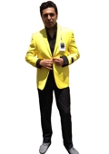 Men's Two Button Blazer Yellow $139