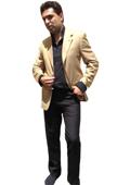 Men's Two Button Blazer Camel ~ Khaki Bronze $139