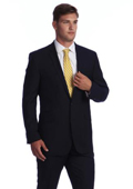 Men's Navy Blue Bone Stripe ~ Pinstripe 2-button Wool affordable suit online sale $139