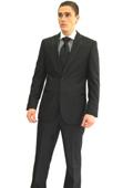 SKU#GR4529 Tapered Leg Lower Rise Pants & Get Skinny Men's Slim Fit Black 2-button Tuxedo Suit