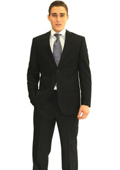 SKU#RH4533 Tapered Leg Lower Rise Pants & Get Skinny Men's Slim Fit 2-button Jacket and Pant Suit Set