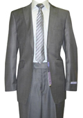 Button Peak Lapel Grey