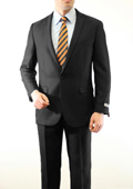 Mens 1 Button Front Closure Slim Fit Peak Lapel Ton on Ton Herringbone Shadow Patterned Suit Black