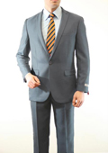 Mens 1 Button Front Closure Slim Fit Peak Lapel Ton on Ton Herringbone Shadow Patterned Suit Grey